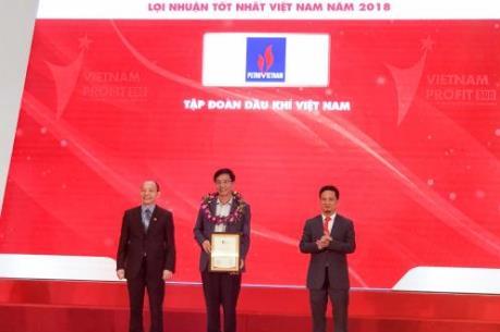 PVN dẫn đầu Top 500 doanh nghiệp có lợi nhuận tốt nhất Việt Nam 2018