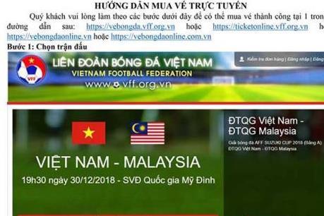 Hướng dẫn mua vé online trận chung kết AFF Cup 2018 giữa Việt Nam vs Malaysia
