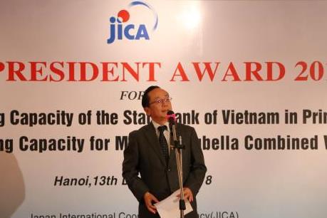 Hai đơn vị của Việt Nam nhận Giải thưởng Chủ tịch JICA 2018