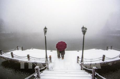 Phong cảnh tuyết rơi tại Trung Quốc