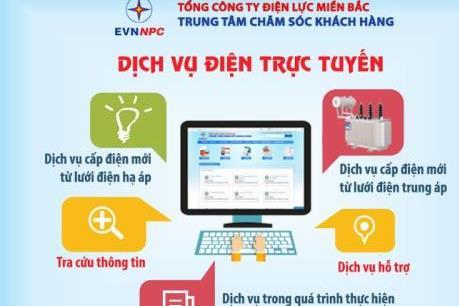 Nhiều khách hàng hưởng lợi từ dịch vụ điện trực tuyến