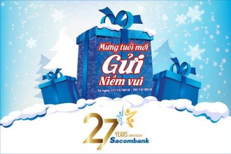 Sacombank tặng lãi suất cho khách hàng gửi tiết kiệm