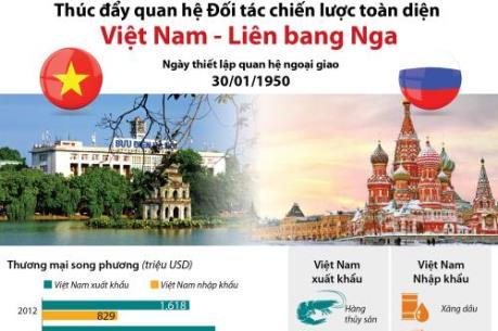 Thúc đẩy quan hệ Đối tác chiến lược toàn diện Việt Nam - Nga