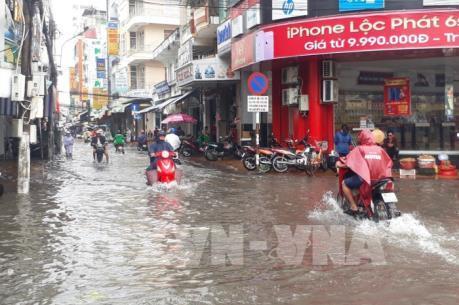 Nhiều nơi Bạc Liêu ngập nặng do ảnh hưởng của bão số 1