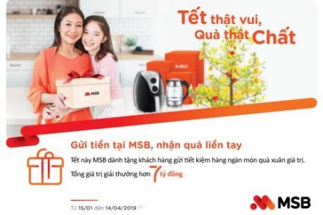 """MSB tung quà tặng """"chất"""" nhân Tết Kỷ Hợi 2019"""