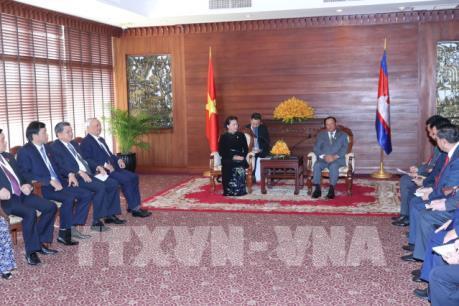 Chủ tịch Quốc hội Nguyễn Thị Kim Ngân hội kiến Chủ tịch Thượng viện Campuchia