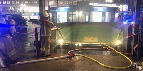 Giao thông tê liệt vì hỏa hoạn tại nhà ga tàu điện ngầm ở Berlin