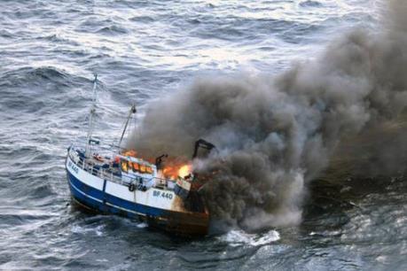 Cháy tàu cá Hàn Quốc: 1 thuyền viên Việt Nam thiệt mạng