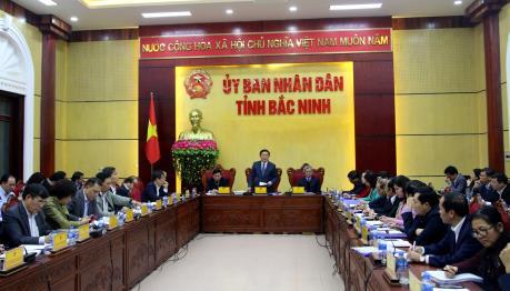 Phó Thủ tướng Vương Đình Huệ làm việc tại Bắc Ninh về tình hình thu hút FDI