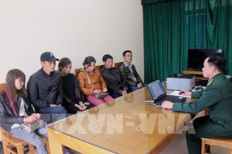 Quảng Ninh bắt giữ 6 đối tượng vượt biên trái phép