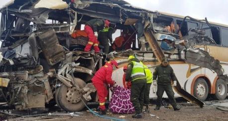 Tai nạn giao thông nghiêm trọng tại Bolivia, gần 40 người thương vong