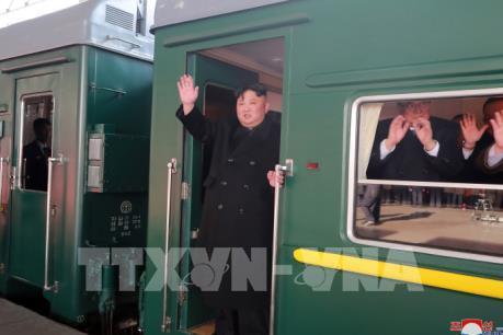 Chủ tịch Triều Tiên Kim Jong-un khởi hành tới Hà Nội bằng tàu hỏa