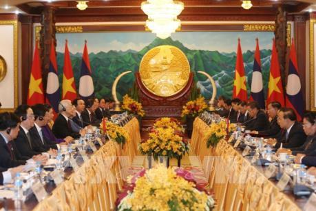 Tổng Bí thư, Chủ tịch nước Việt Nam hội đàm với Tổng Bí thư, Chủ tịch nước Lào