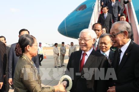 Tổng Bí thư, Chủ tịch nước Nguyễn Phú Trọng thăm cấp nhà nước Campuchia