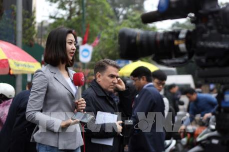 Báo chí quốc tế tăng nhân lực thông tin về Hội nghị Thượng đỉnh Mỹ - Triều lần 2