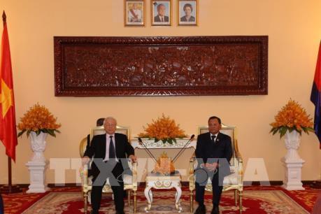 Tổng Bí thư, Chủ tịch nước Nguyễn Phú Trọng hội kiến lãnh đạo cấp cao Campuchia