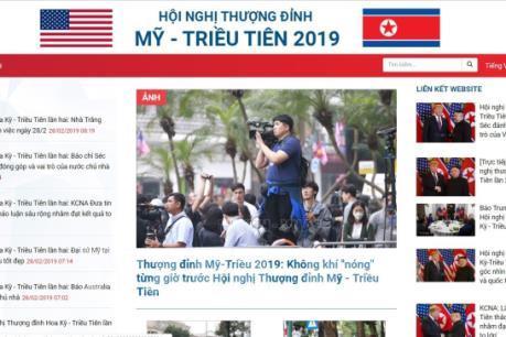 TTXVN liên tục cập nhật thông tin về Hội nghị thượng đỉnh Mỹ-Triều lần 2