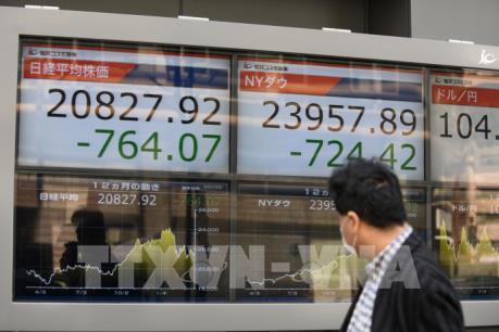 Chứng khoán châu Á tiếp tục giảm điểm trước thềm đàm phán thương mại Mỹ-Trung