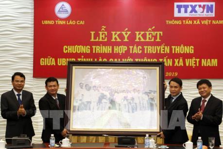 UBND tỉnh Lào Cai và Thông tấn xã Việt Nam ký kết hợp tác truyền thông