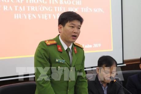 Thông tin chính thức vụ thầy giáo bị tố dâm ô học sinh tại Bắc Giang