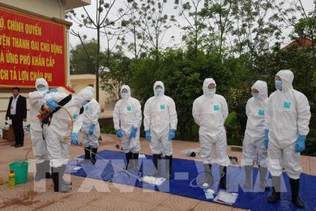 Hà Nội diễn tập phòng chống dịch tả lợn châu Phi