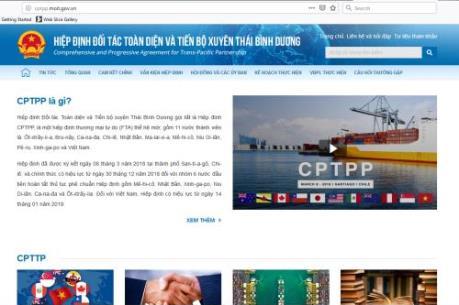 Ra mắt chuyên trang điện tử về Hiệp định CPTPP