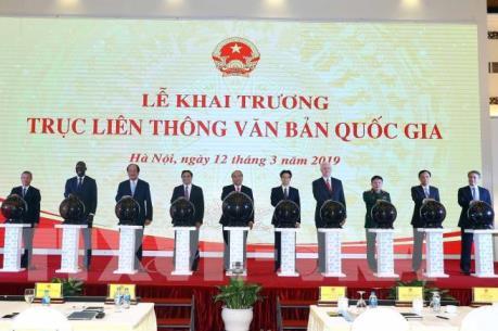 Thủ tướng dự lễ Khai trương Trục liên thông văn bản quốc gia