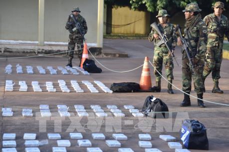 Peru triệt phá đường dây buôn bán hơn 2,1 tấn cocaine