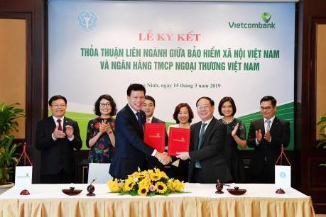 Vietcombank ký thỏa thuận liên ngành với Bảo hiểm xã hội Việt Nam