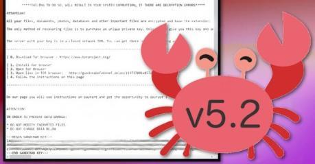 Cảnh báo mã độc GandCrab 5.2 tống tiền phiên bản mới nhất