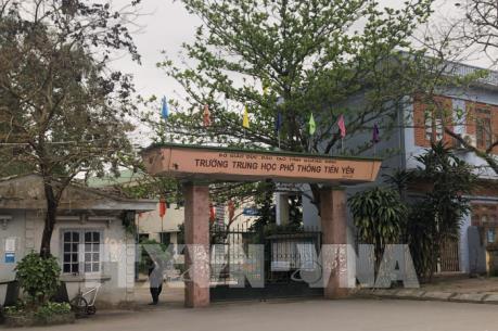 Hơn 500 học sinh Trường THPT Tiên Yên đồng loạt không đến trường