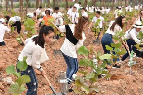 10.000 cây xanh được trồng trong chiến dịch Go Green 2019