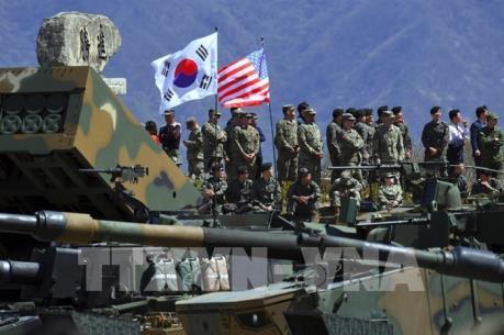 """Truyền thông Triều Tiên: Tập trận chung Mỹ-Hàn là hành động """"gây hấn quân sự"""""""