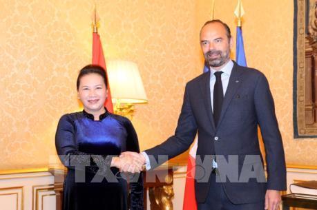 Chủ tịch Quốc hội hội kiến Thủ tướng Pháp Edouard Philippe