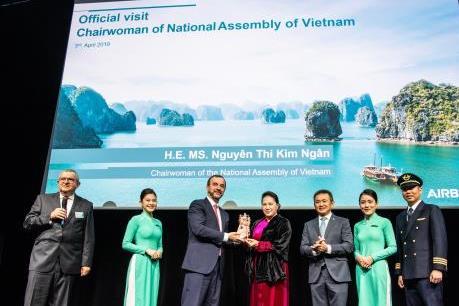 Vietnam Airlines hoàn thiện đội máy bay thân rộng Airbus A350
