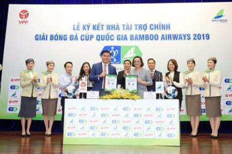Bamboo Airways ký kết tài trợ giải bóng đá Cúp Quốc gia 2019