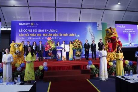 """Bảo Việt Nhân thọ đoạt giải thưởng """"Nơi làm việc tốt nhất châu Á"""""""