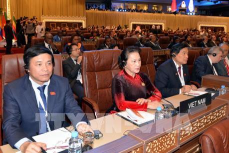 Chủ tịch Quốc hội Nguyễn Thị Kim Ngân dự Lễ khai mạc IPU-140