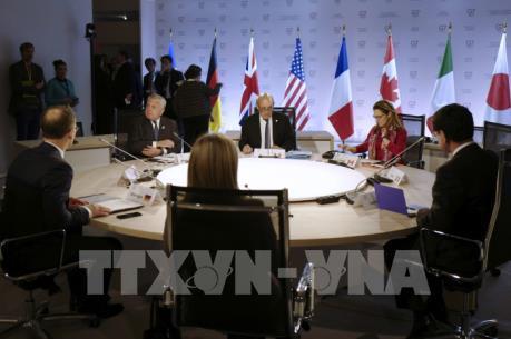 Ngoại trưởng G7 ra tuyên bố chung về nhiều vấn đề nóng