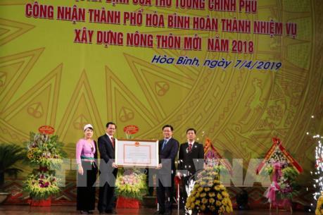 Thành phố Hòa Bình được công nhận hoàn thành nhiệm vụ xây dựng nông thôn mới