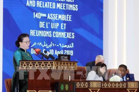 Chủ tịch Quốc hội phát biểu tại Phiên thảo luận toàn thể Đại hội đồng IPU-140