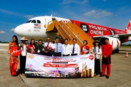 AirAsia chinhs thức khai thác đường bay Cần Thơ – Kuala Lumpur