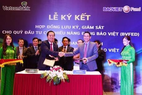 Vietcombank Ba Đình ký kết Hợp đồng lưu ký, giám sát cho BVFED