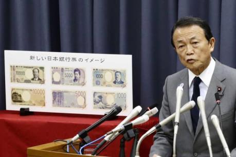 Nhật Bản sắp phát hành tiền giấy mẫu mới có đặc tính chống tiền giả tiên tiến