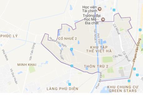 Quy hoạch đất chi tiết phường Cổ Nhuế 21, quận Bắc Từ Liêm
