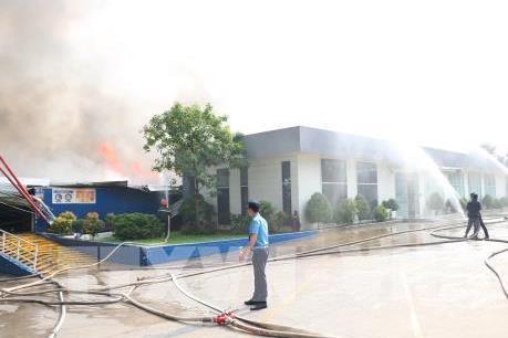 Thông tin mới về vụ cháy tại Khu công nghiệp Sóng Thần 2