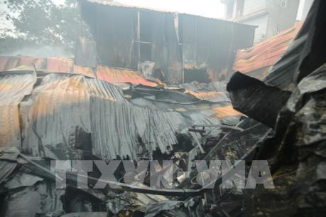 Khu nhà xưởng bị cháy tại Trung Văn xây trên đất lấn chiếm