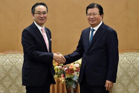 Phó Thủ tướng Trịnh Đình Dũng tiếp Tổng Giám đốc Tập đoàn Marubeni (Nhật Bản)
