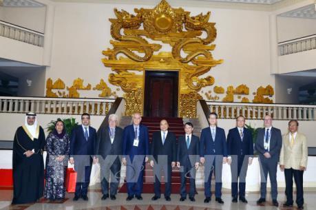 Thủ tướng tiếp Đoàn các hãng thông tấn tham dự Hội nghị Ban Chấp hành OANA 44