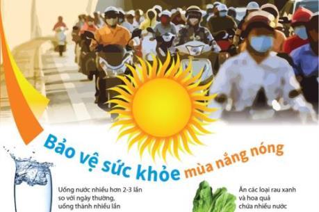Cách bảo vệ sức khỏe mùa nắng nóng
